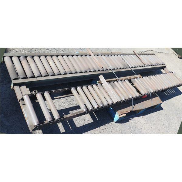 Qty 2 Metal Conveyor Sections 120 L x 16 W