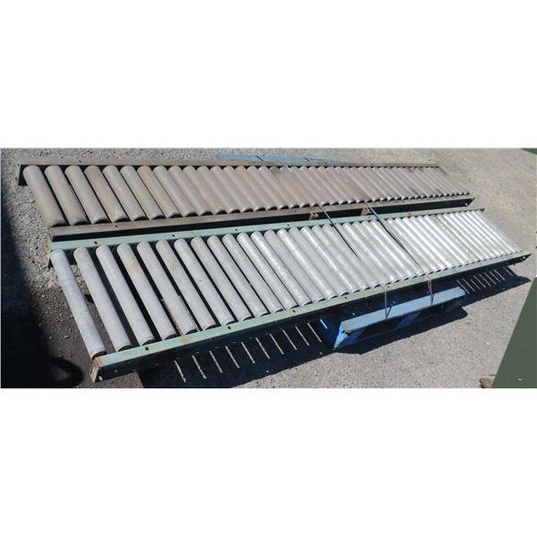 "Qty 2 Metal Conveyor Sections 120""L x 16"" & 18""W"