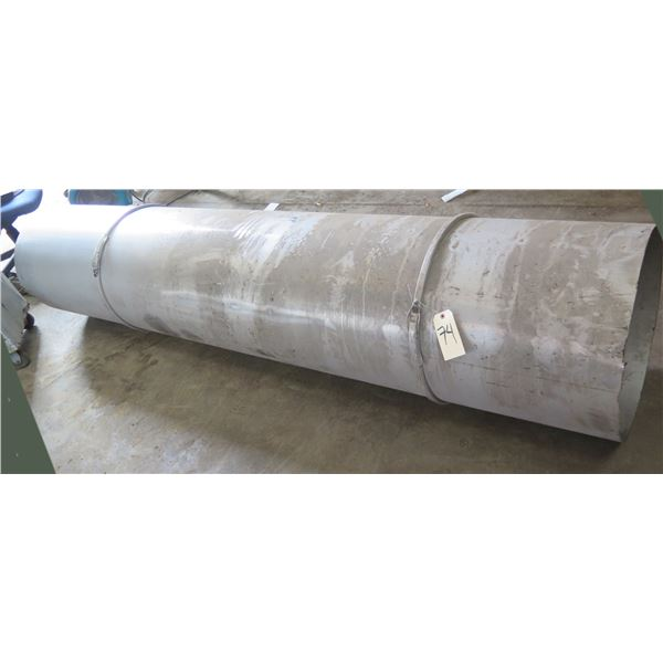 """Large Stainless Steel Pipe 188""""L x 22"""" Diameter"""