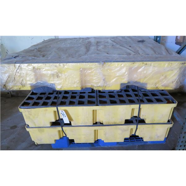 Qty 3 Fastenal Argent 4 Drum Spill Containment Pallet 0200683