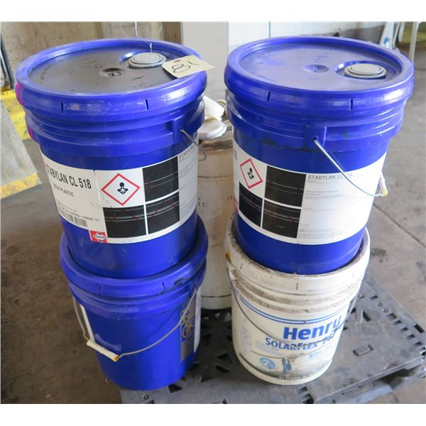 Qty 32 Pails Stabylan CL 518 Synthetic Oil, 1 Henry SolarFlex 287SF & Deox Cleaner