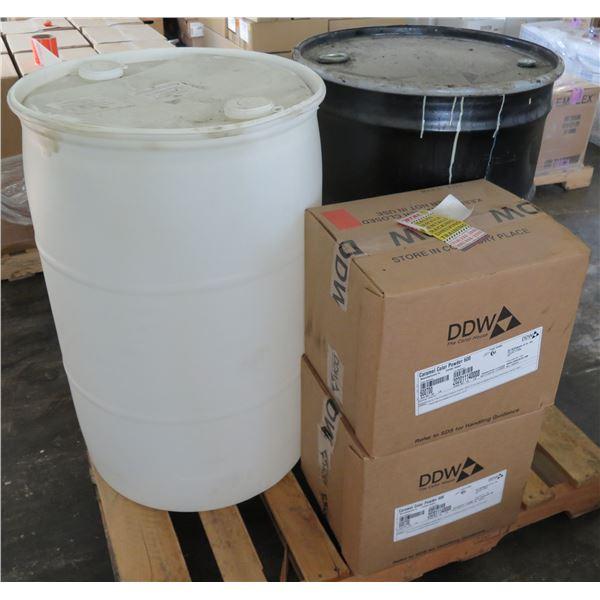 Qty 2 Boxes Caramel Color Powder 600, Divider Oil & Half Tank Trough Grease