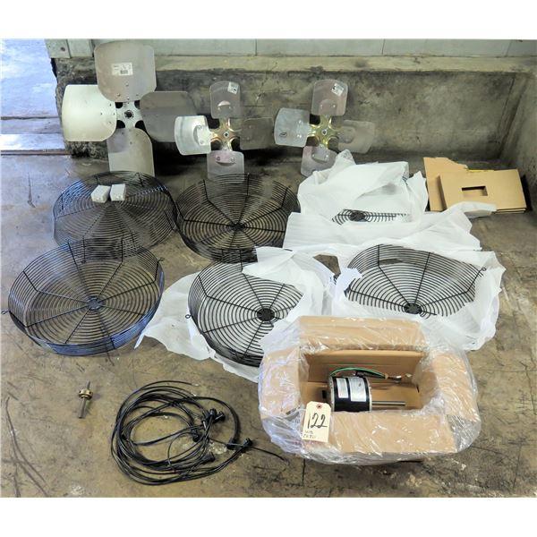 Sub Zero Parts: Interlink Fans w/ Metal Casings, Condenser Fan Motor & Hardware