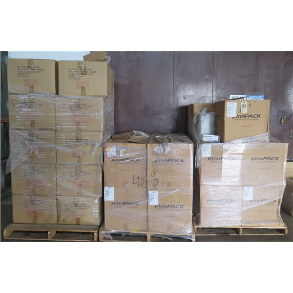 """Qty Approx. 29 Boxes pinnPACK 88"""" Square 99 oz Tub - Short & Outer Lids"""