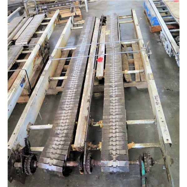 "Metal 2 Belt Conveyor Section 132"" x 48""W"