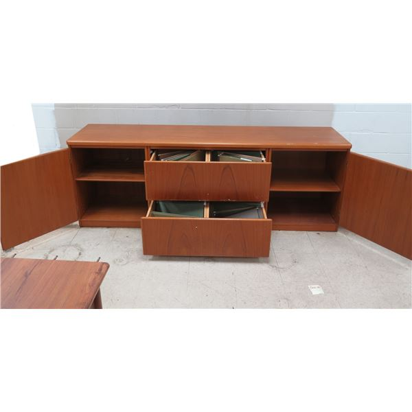 """Wooden Sideboard Cabinet w/ 2 Drawers & 2 Cabinets 83"""" x 19"""" x 29""""H"""