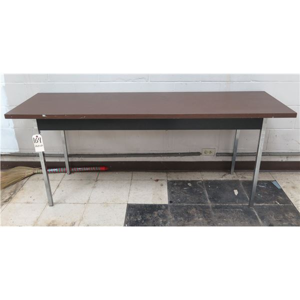 "Wood Laminate Table w/ Metal Legs 73"" x 20"" x 29""H"