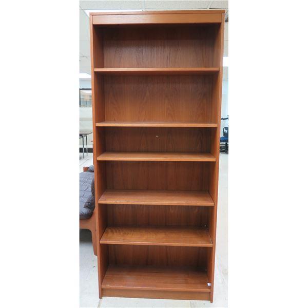 """Wooden 6 Tier Book Shelf 33"""" x 13"""" x 84""""H"""