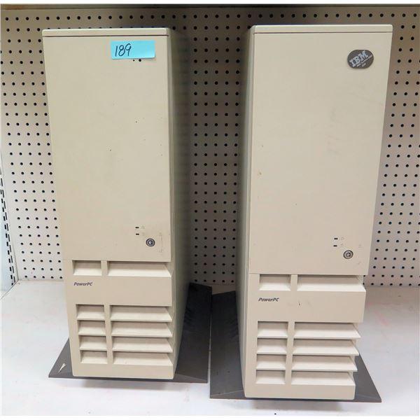 Qty 2 IBM RISC System/600 E20 Unix Server Workstations