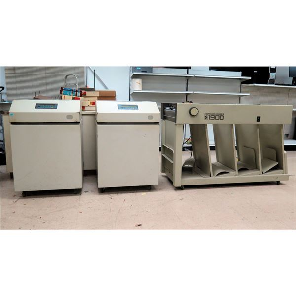 Qty 2 IBM 6400 Line Matrix Printers & Standard Register 1900 Separator