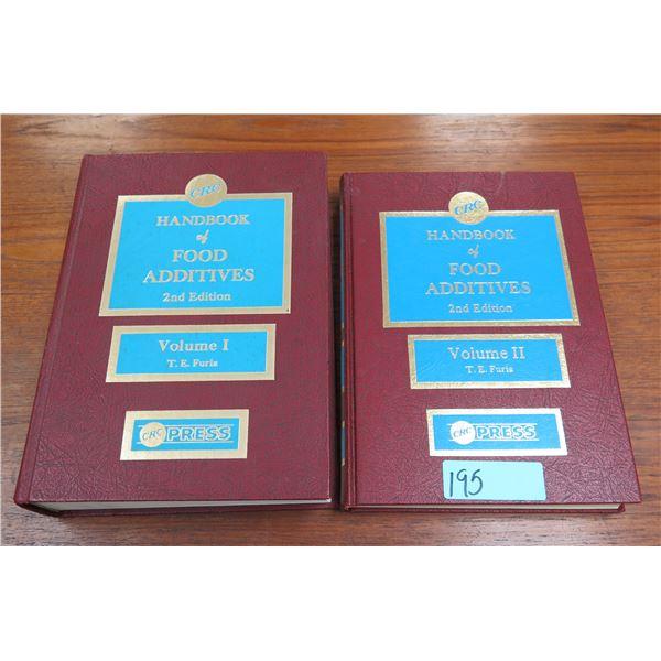 Qty 2 Handbooks of Food Additives, 2nd Edition, Volume I & II, Copyright 1975
