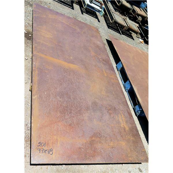 "Metal Sheet Plate 97"" x 48"" x 0.6"" Thick"