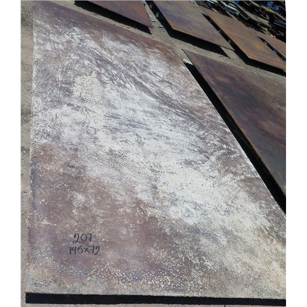"Metal Sheet Plate 145"" x 72"" x 0.6"" Thick"