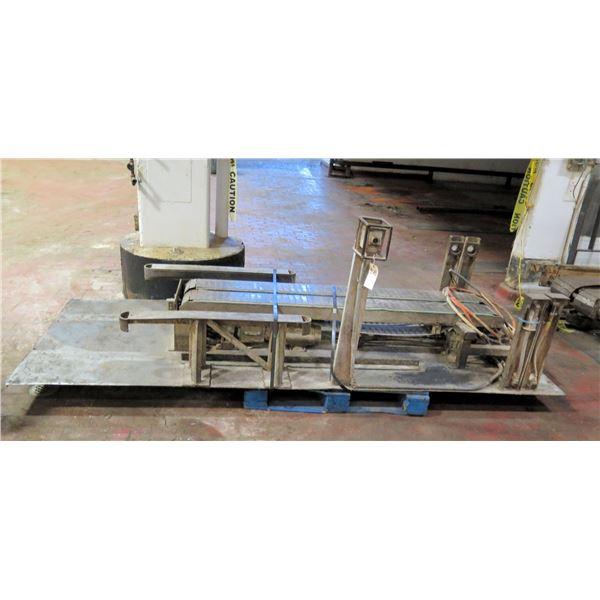 "Pallet Metal 2 Belt Conveyor Section 120""L x 51""W"