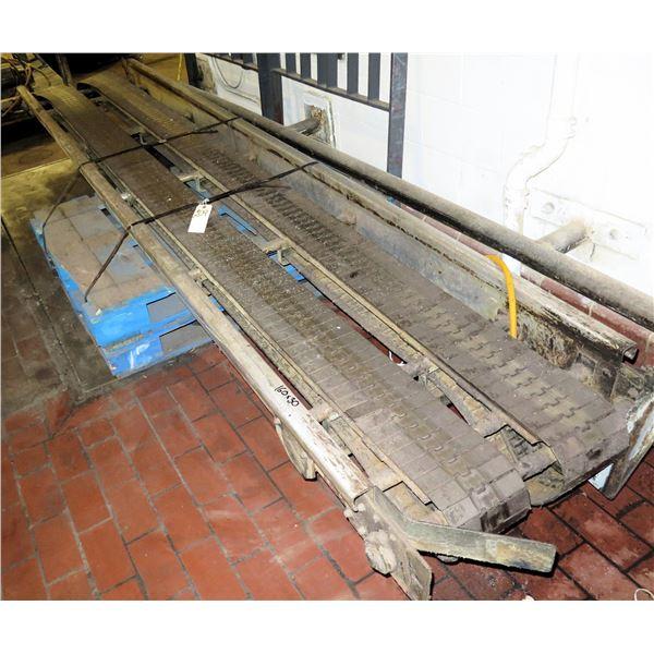 "Pallet Metal 2 Belt Conveyor Section 160""L x 30""W"
