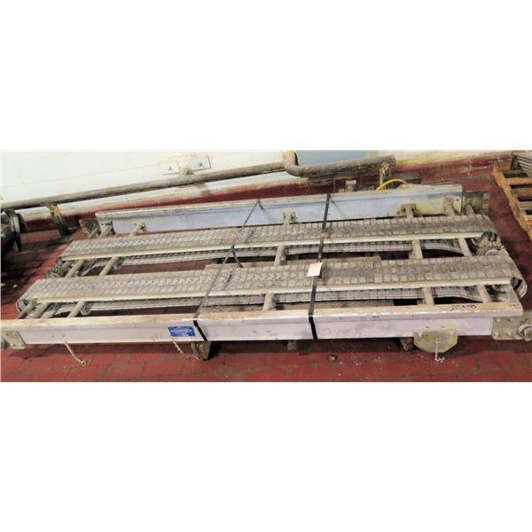 "Pallet Baldor Metal 2 Belt Conveyor Section 114""L x 48""W"