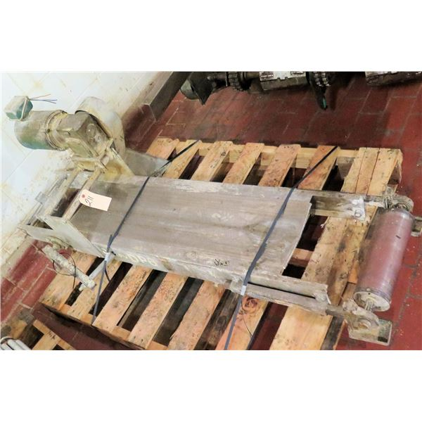 """Metal Conveyor Section w/ Roller Ends 66""""L x 15""""W"""