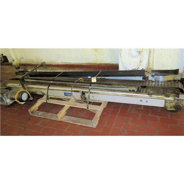 "Pallet Lanham Metal 2 Belt Conveyor Section 117""L x 24""W"