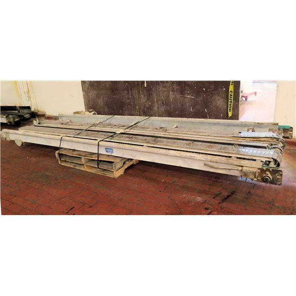 "Pallet Lanham Metal 2 Belt Conveyor Section 168""L x 48""W"