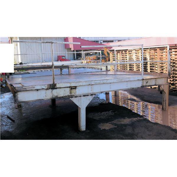 "Portable Loading Dock w/ Side Railing & Diamond Plate Deck 189""x115""x90""H"