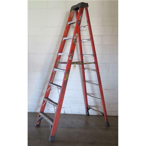 """Werner Professional Metal Step Ladder 8 Stair 12""""H"""