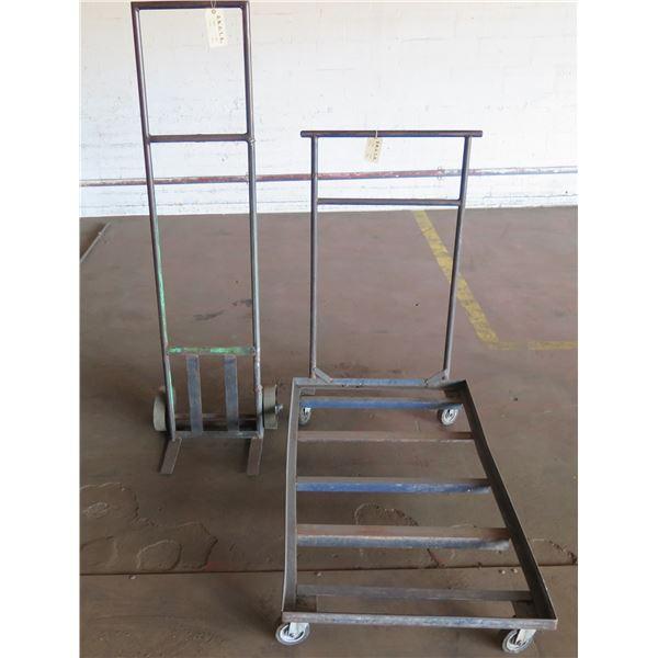 """Metal Hand Truck & Platform Rolling Cart 53""""x30""""x8""""H"""