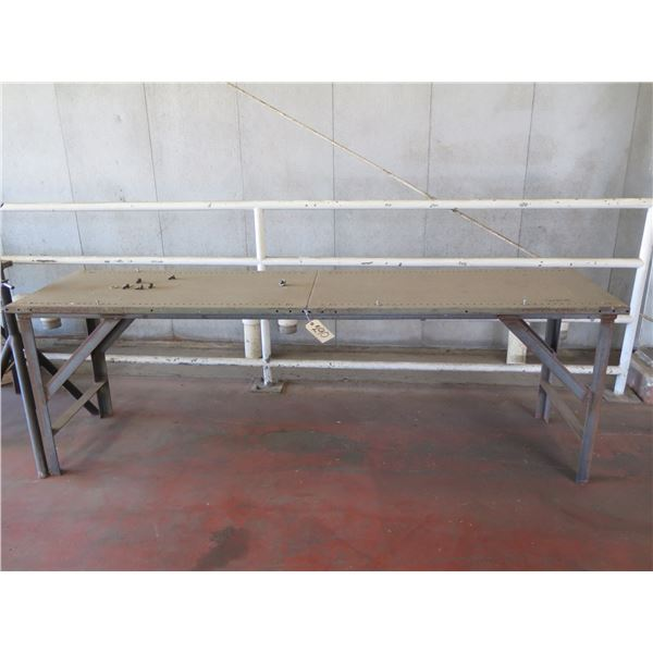 """Metal Table with Wheels 96"""" x 24"""" x 31H"""