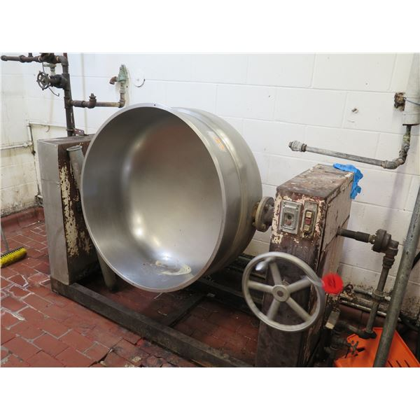 """Large Mixing Bowl 37"""" Dia, 21"""" H, Manual Tilt w/ Industrial Stand"""