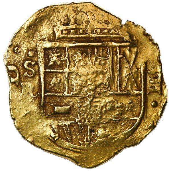 Seville, Spain, cob 8 escudos, Philip IV, assayer R.
