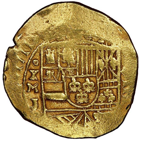 Mexico City, Mexico, cob 8 escudos, 1711J, ex-1715 Fleet, NGC AU details / removed from jewelry, ex-