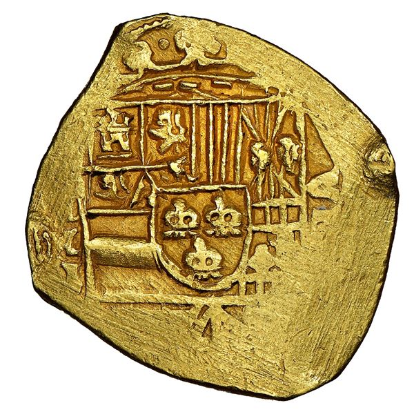 Mexico City, Mexico, cob 8 escudos, Philip V, assayer J, bar-end cross (1711-12), NGC MS 63, ex-1715