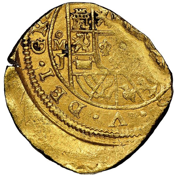 """Mexico City, Mexico, cob 8 escudos, (1714)J, variety with date on reverse (""""GRAT""""), NGC MS 61, ex-17"""
