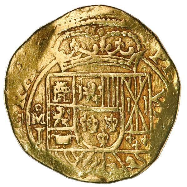 "Mexico City, Mexico, cob 8 escudos, (1714)J, variety with date on reverse (""GRAT""), NGC AU 53, ex-17"