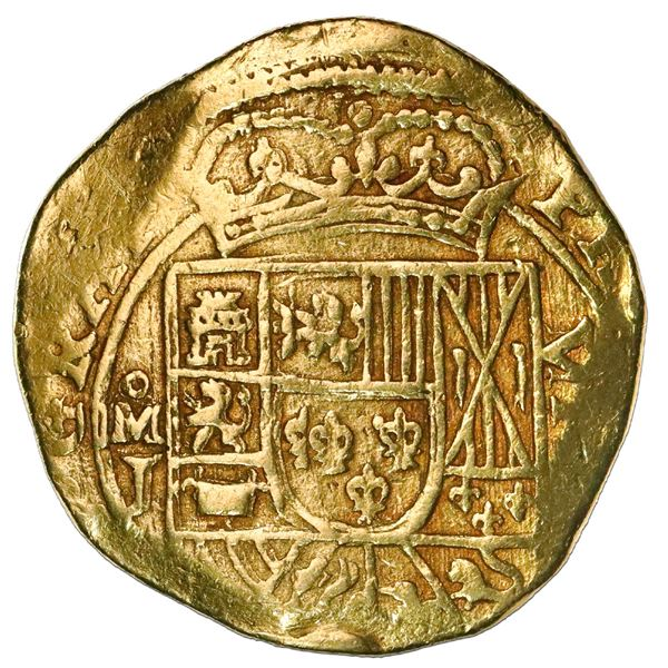 "Mexico City, Mexico, cob 8 escudos, (1714)J, variety with date on reverse (""GRAT""), NGC AU 53, ex-17"