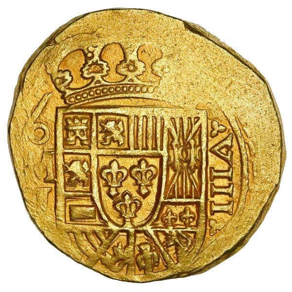 Mexico City, Mexico, cob 8 escudos, (171)5J, NGC MS 62, ex-1715 Fleet (designated on special label).