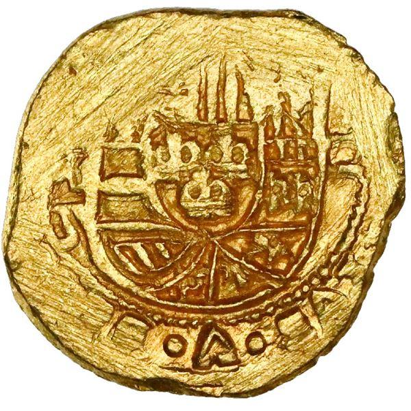 Mexico City, Mexico, cob 2 escudos, Philip V, assayer J (style of 1711-13), crosslet-end cross, NGC