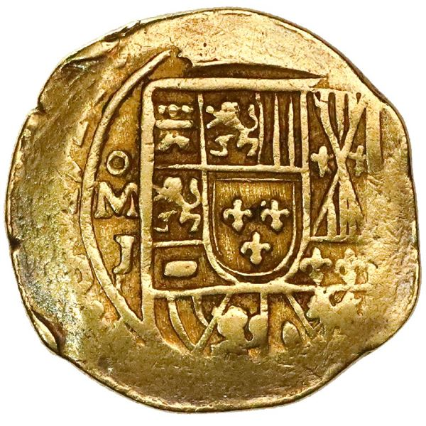 Mexico City, Mexico, cob 2 escudos, 1714J, NGC AU 53, ex-1715 Fleet (designated on special label).