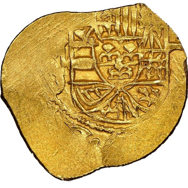 Mexico City, Mexico, cob 1 escudo, Philip V, assayer J (style of 1706-10), NGC MS 62, ex-1715 Fleet