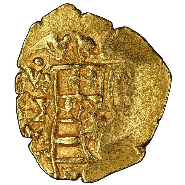 Mexico City, Mexico, cob 1 escudo, 1712J, mintmark oXM (rare), NGC AU 58, ex-1715 Fleet (designated
