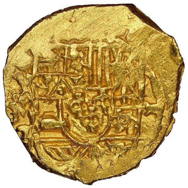 Mexico City, Mexico, cob 1 escudo, Philip V, assayer J, mintmark oXM (1711-13), NGC MS 63, ex-1715 F