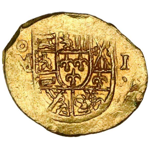 Mexico City, Mexico, cob 1 escudo, (1714)J, NGC MS 64, ex-1715 Fleet (designated on special label),