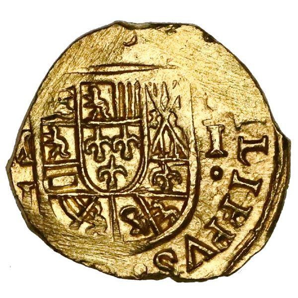 Mexico City, Mexico, cob 1 escudo, (1714)J, NGC MS 64, ex-1715 Fleet (designated on special label).