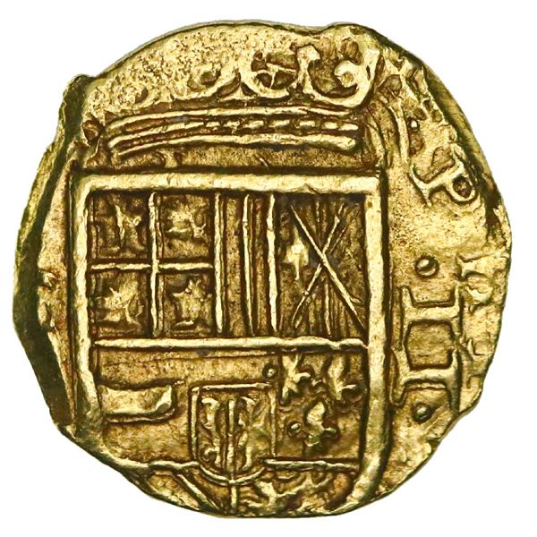 Cartagena, Colombia, cob 2 escudos, 1630( E), mintmark-assayer to left, NGC MS 62, finest known in N