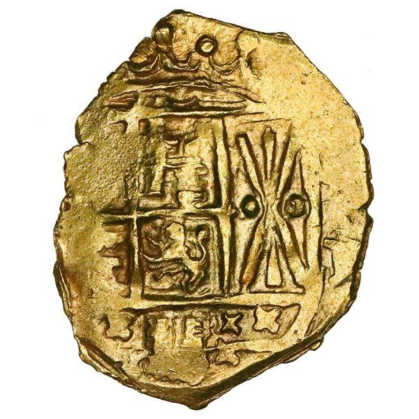 Bogota, Colombia, cob 2 escudos, Charles II posthumous, no assayer (Arce), NGC MS 64, ex-1715 Fleet