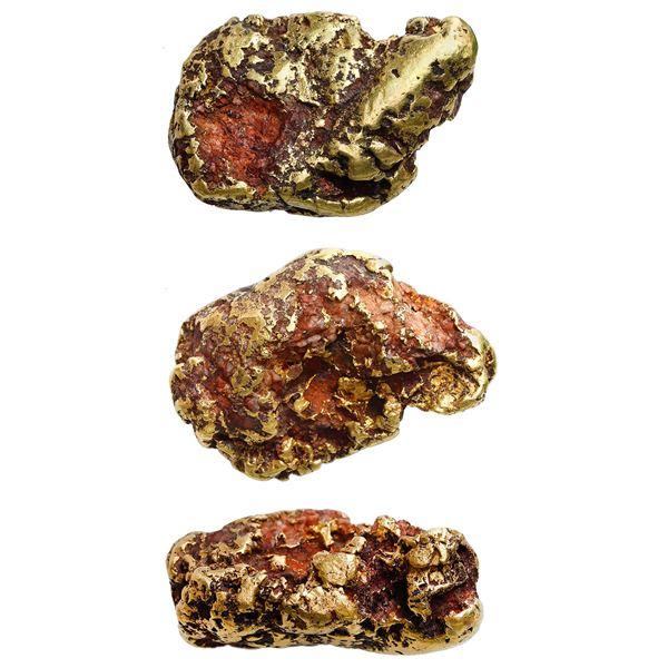 "Natural gold nugget from a river in California, 107.39 grams, the ""Golden Fist."""
