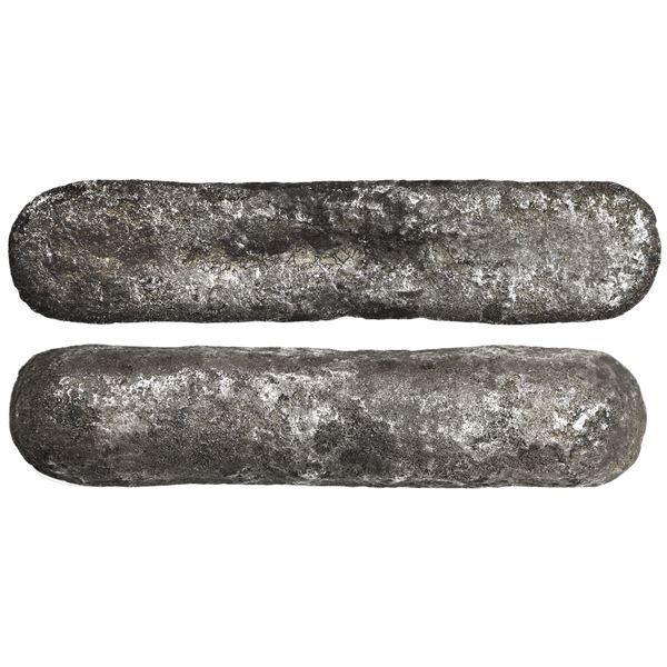 Silver contraband ingot, 550 grams, ex-Maravillas (1656).