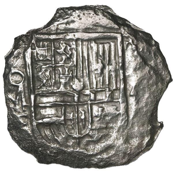Mexico City, Mexico, cob 4 reales, Philip III, assayer F, Grade 1.