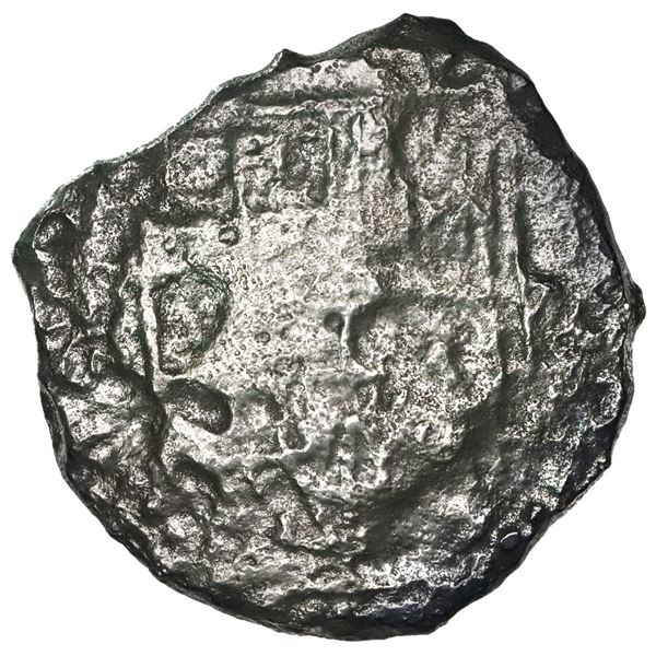 Potosi, Bolivia, cob 8 reales, Philip III, assayer not visible, Grade 4.
