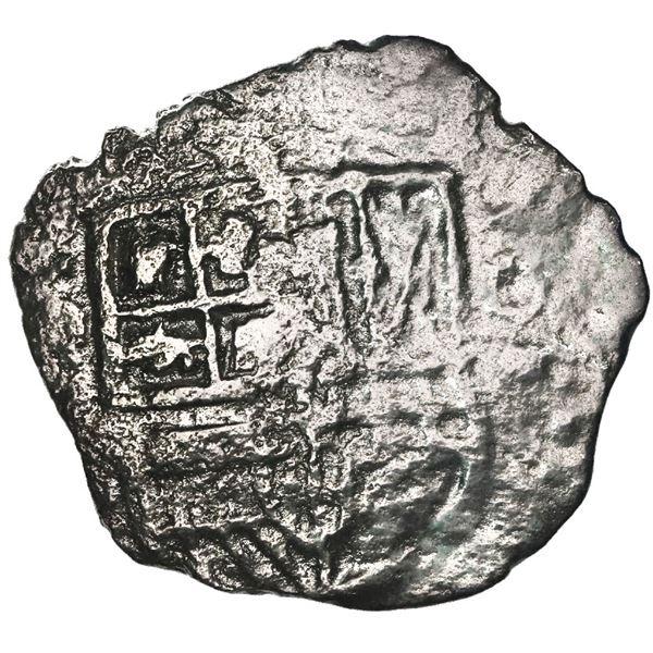 Potosi, Bolivia, cob 4 reales, (16)19(T), quadrants of cross transposed, Grade 2.