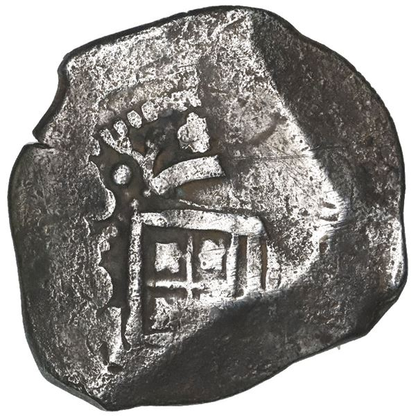 Mexico City, Mexico, cob 4 reales, (16)38/7P, rare.